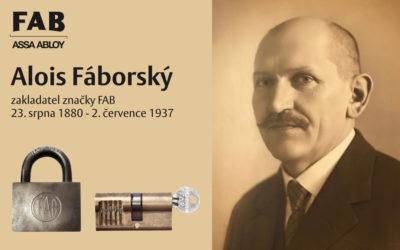 140. výročí narození Aloise Fáborského, zakladatele značky FAB