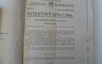 100 let od prvního dochovaného patentu FAB