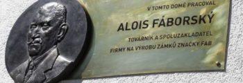 Pamětní deska Aloisi Fáborskému